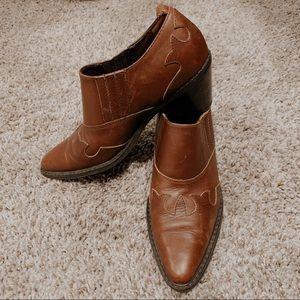 vintage western ankle booties